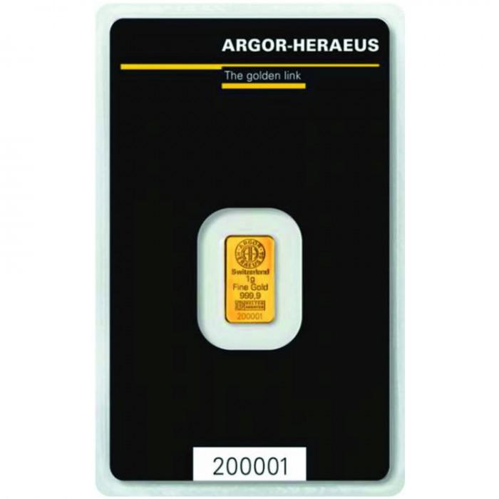 Investiční zlatý slitek 1g Argor Heraeus