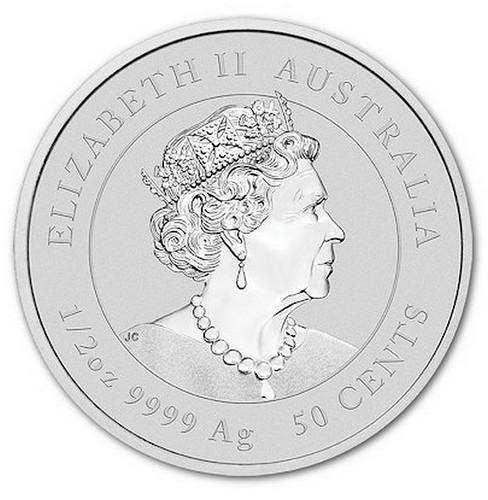 Stříbrná mince rok Buvola 1/2 OZ 2021 - Lunární série