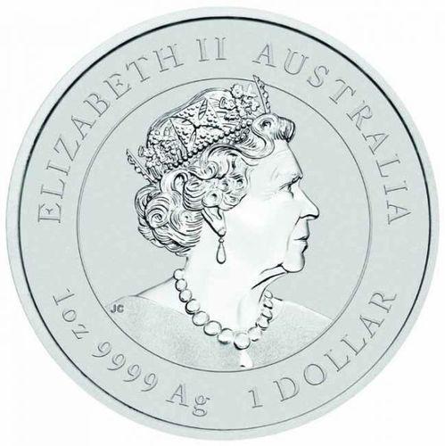 Stříbrná mince rok Buvola 1 OZ 2021 - Lunární série (nebalená)