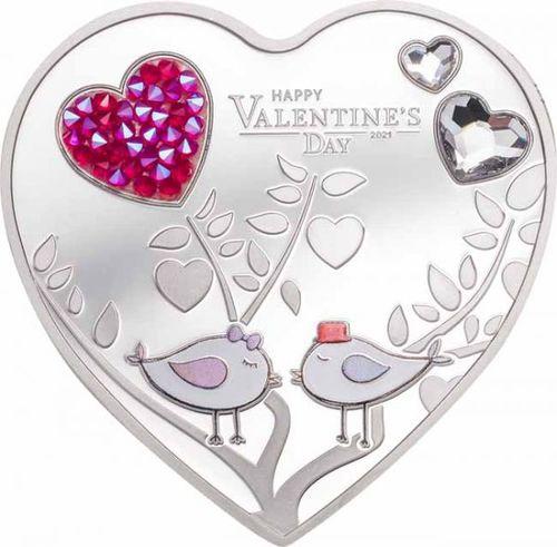 Stříbrná mince Valentýn 2021