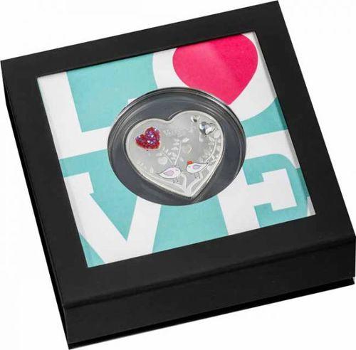 Stříbrná mince Love is Precious 1 OZ - plameňáci