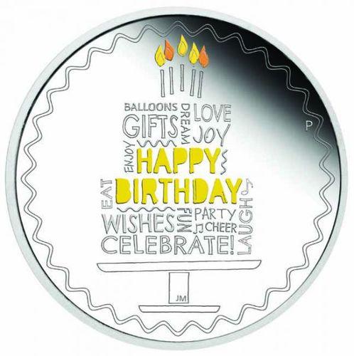 Stříbrná mince Happy Birthday 1 OZ - narozeniny