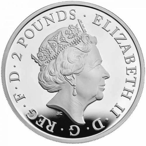 Stříbrná mince rok Buvola 2021 Velká Británie