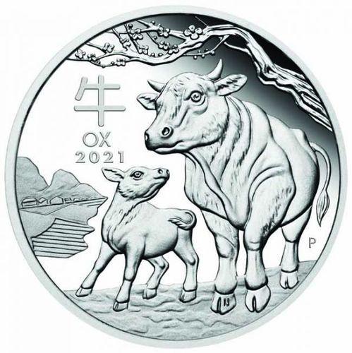 Stříbrná mince rok Buvola 1 OZ 2021 - Lunární série