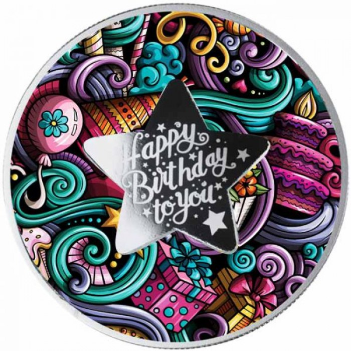 Stříbrná mince Happy Birthday to You - vše nejlepší k narozeninám
