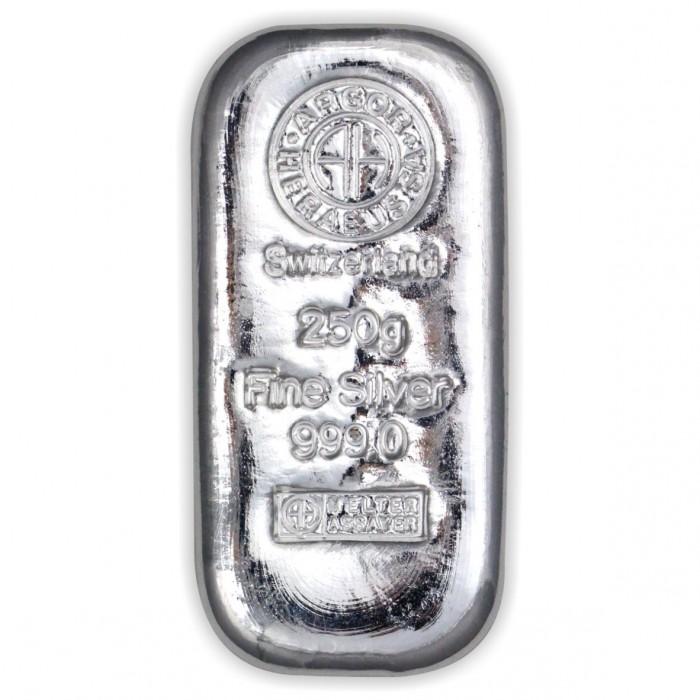 Stříbrný investiční slitek 250g Argor Heraeus