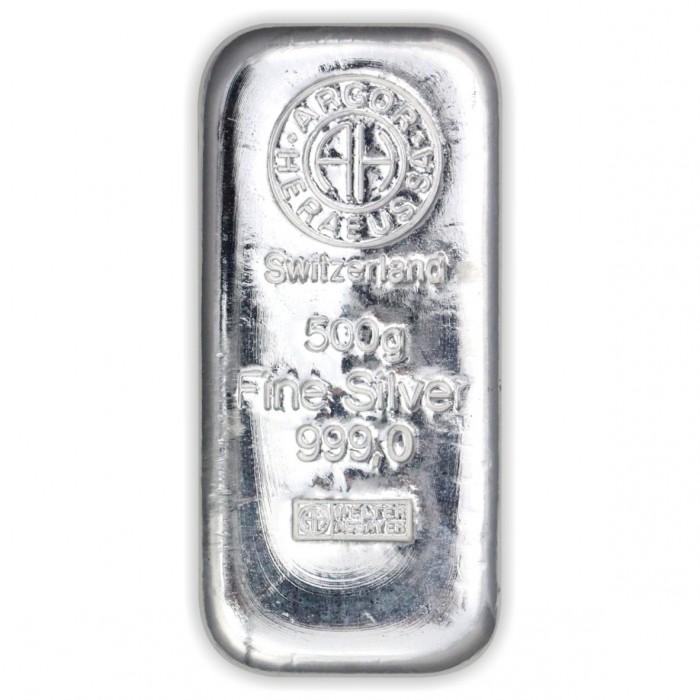 Stříbrný investiční slitek 500g Argor Heraeus