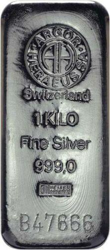 Stříbrný investiční slitek 1000g Argor Heraeus