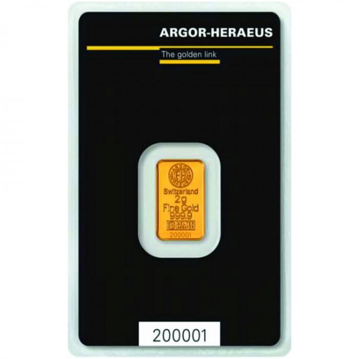 Investiční zlatý slitek 2g Argor Heraeus