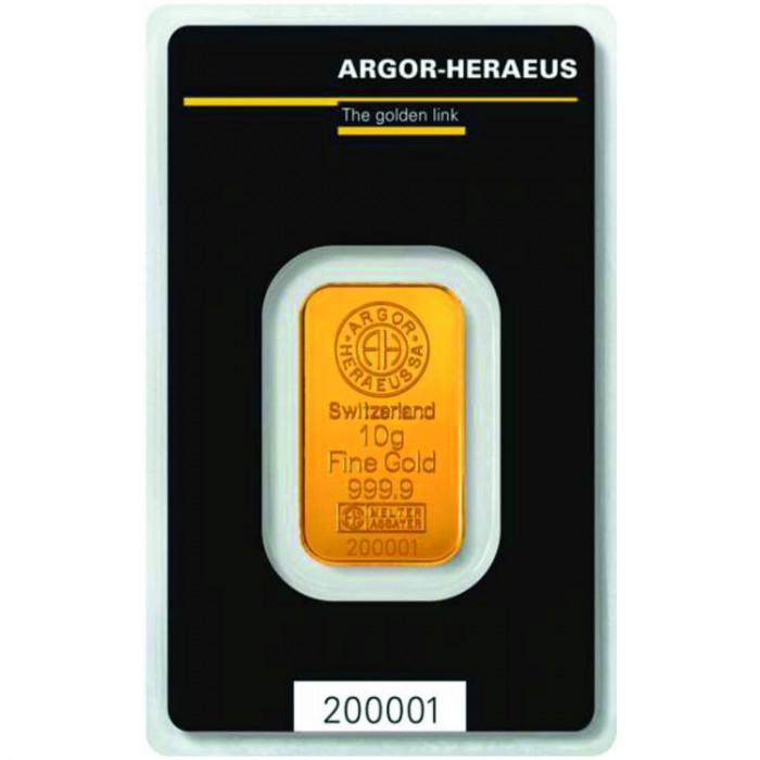 Investiční zlatý slitek 10g Argor Heraeus