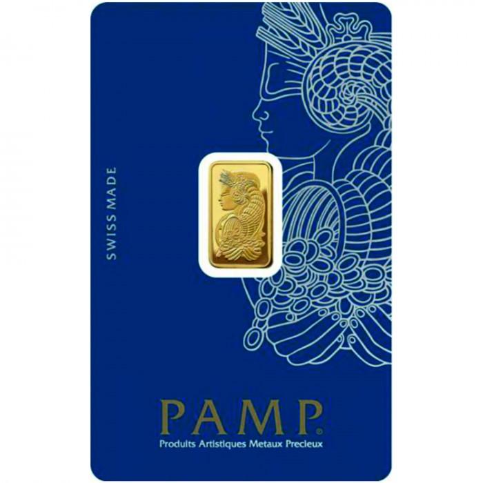 Investiční zlatý slitek 2,5 g Pamp Fortuna